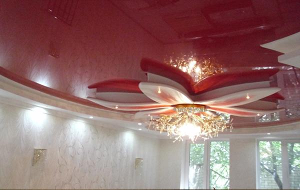 Натяжной потолок люкс класса